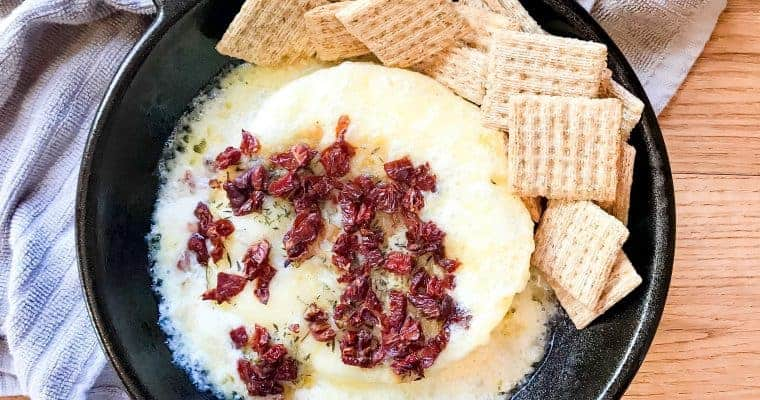 Sun-dried Tomato & Roasted Garlic Baked Brie