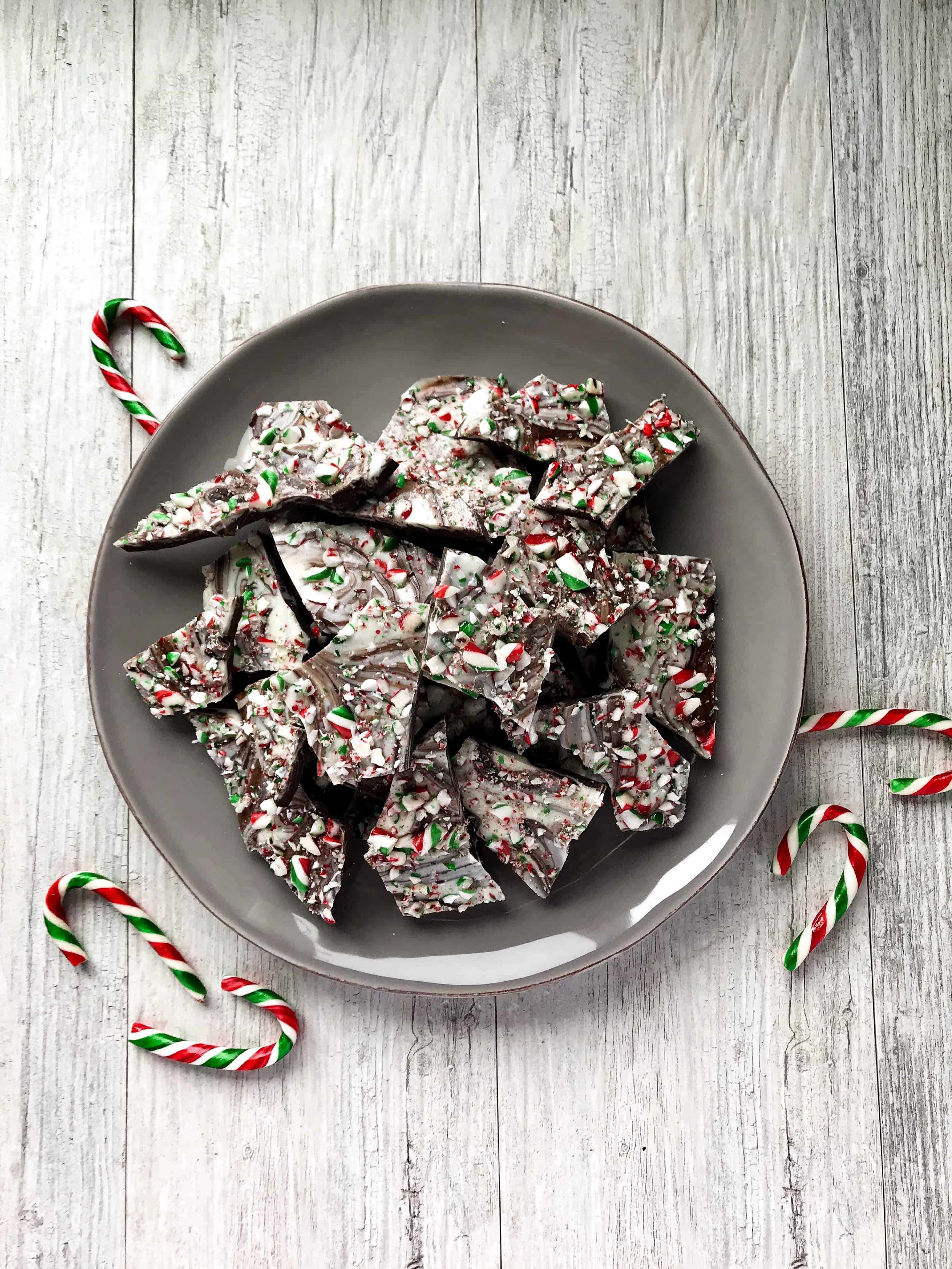 Peppermint Candy Cane Bark