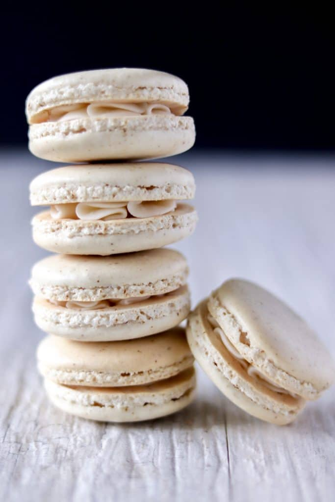 Stack of French Vanilla French Macarons