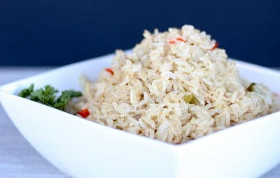 Instant Pot Brown Rice with Peppers