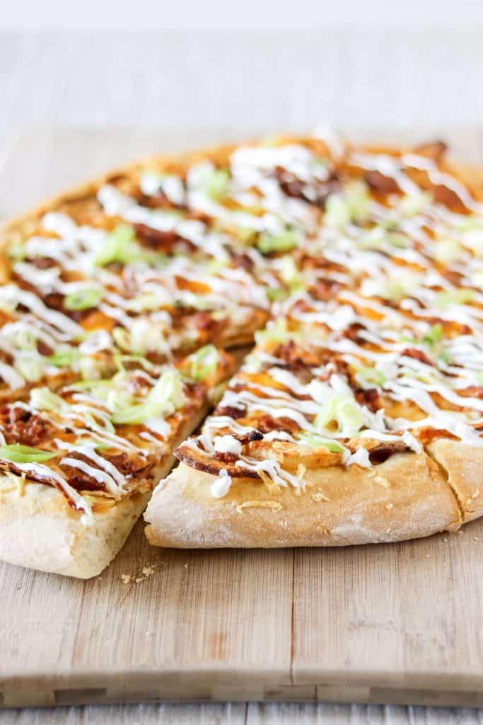 Spicy Pierogi Pizza sliced