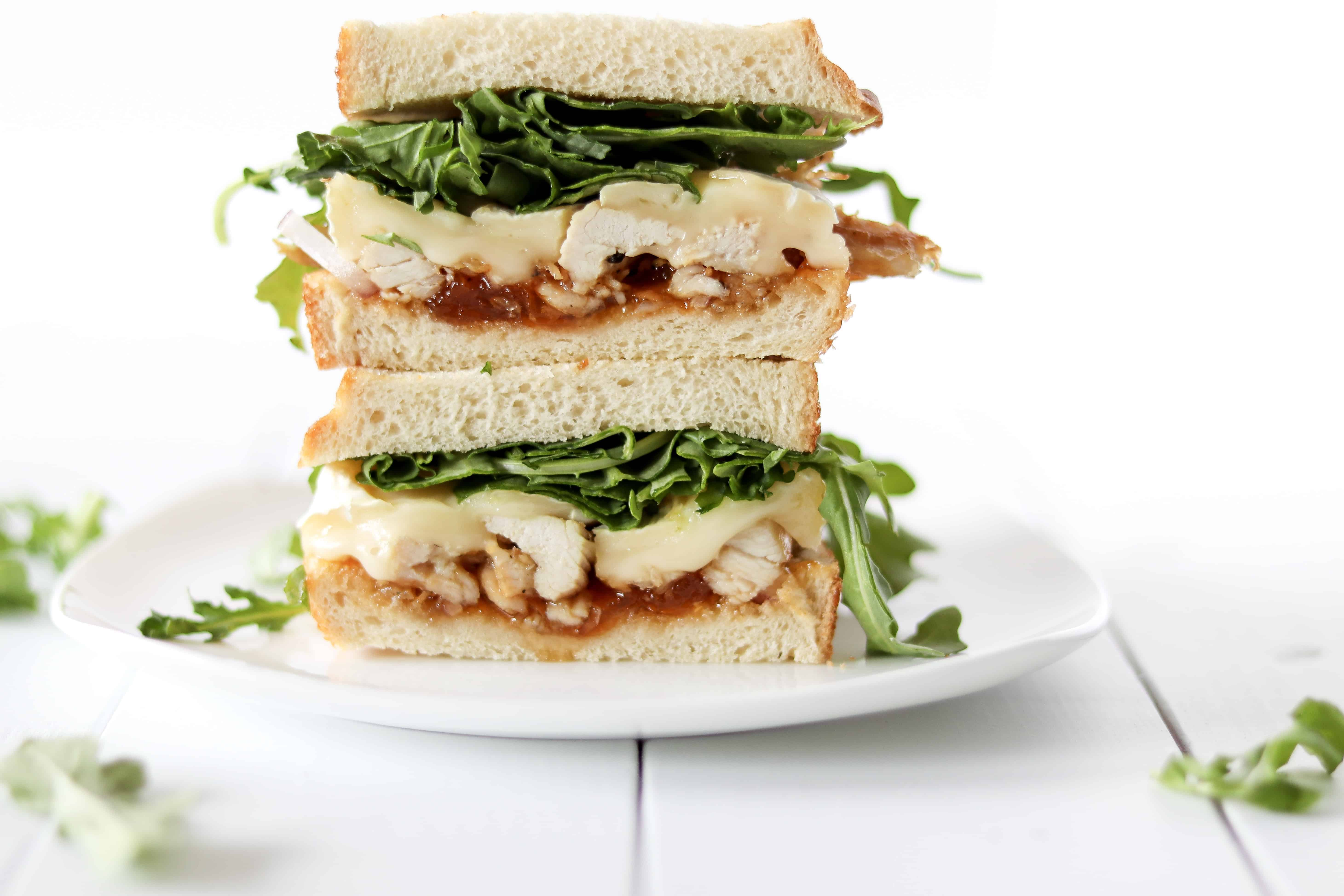 Apricot Brie Chicken Sandwiches