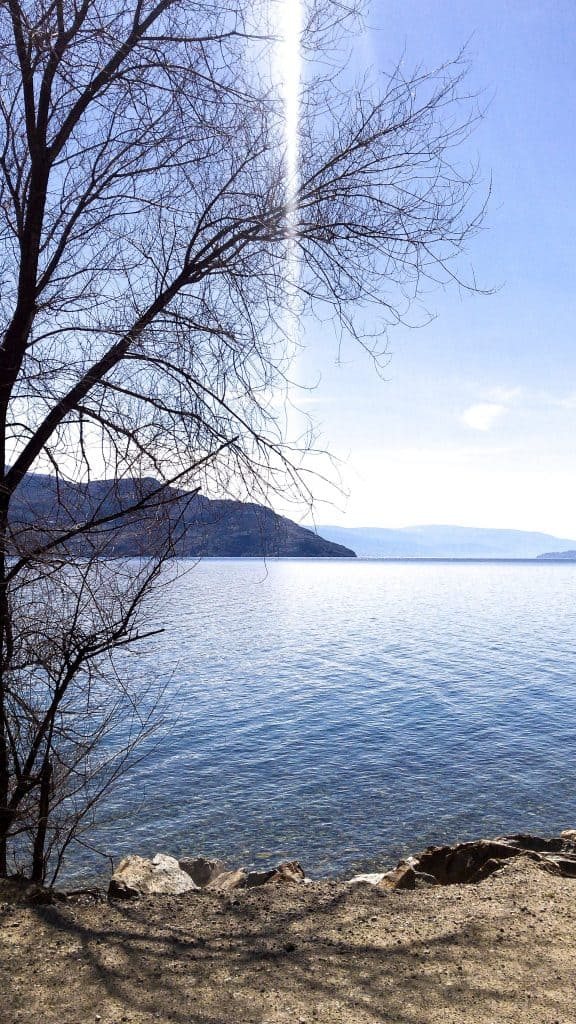 Okanagan lake at easter