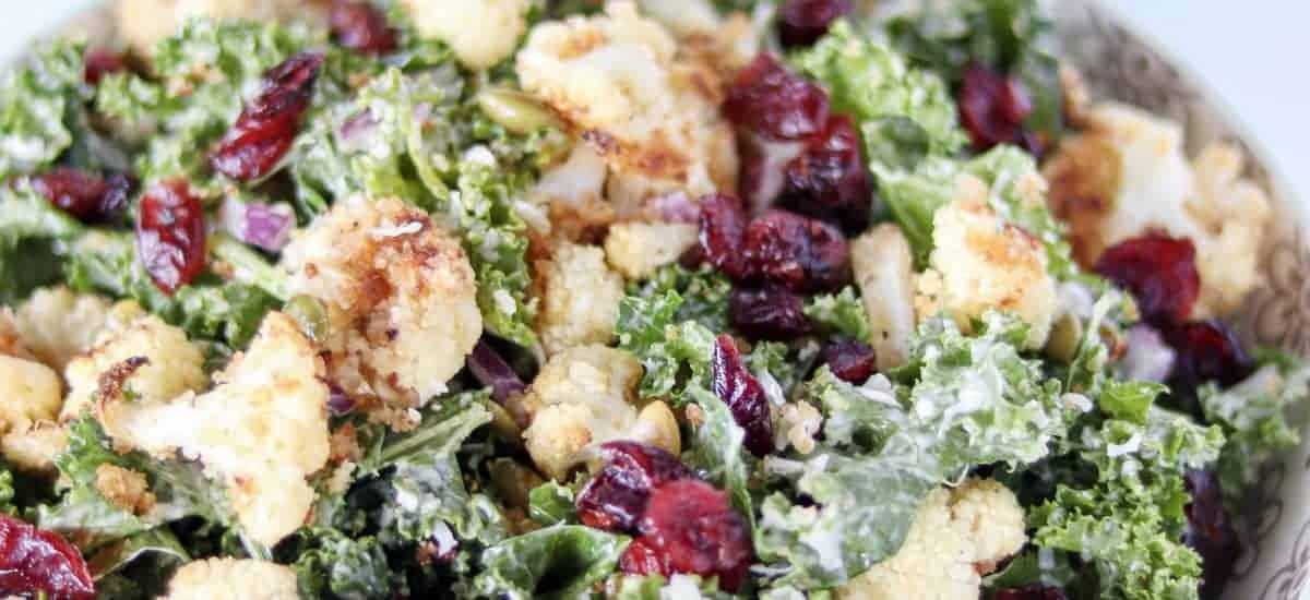 Kale Cauliflower Caesar Salad