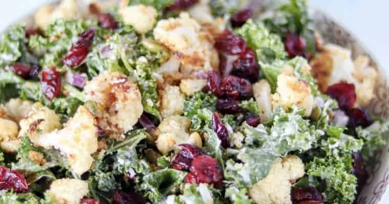 Kale Cauliflower Caesar Salad