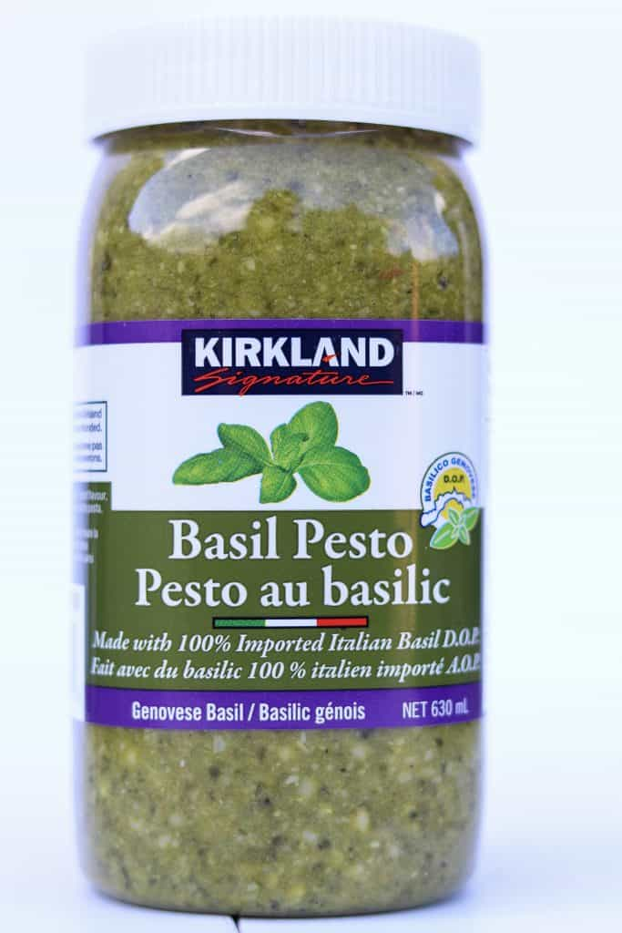 our favourite basil pesto- kirkland brand