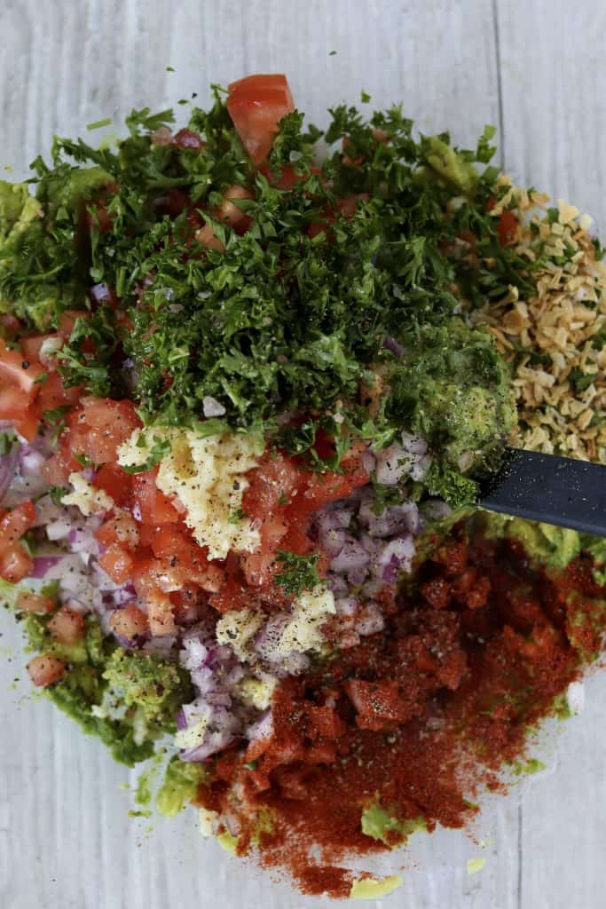 all ingredients in a bowl ready to be mixed