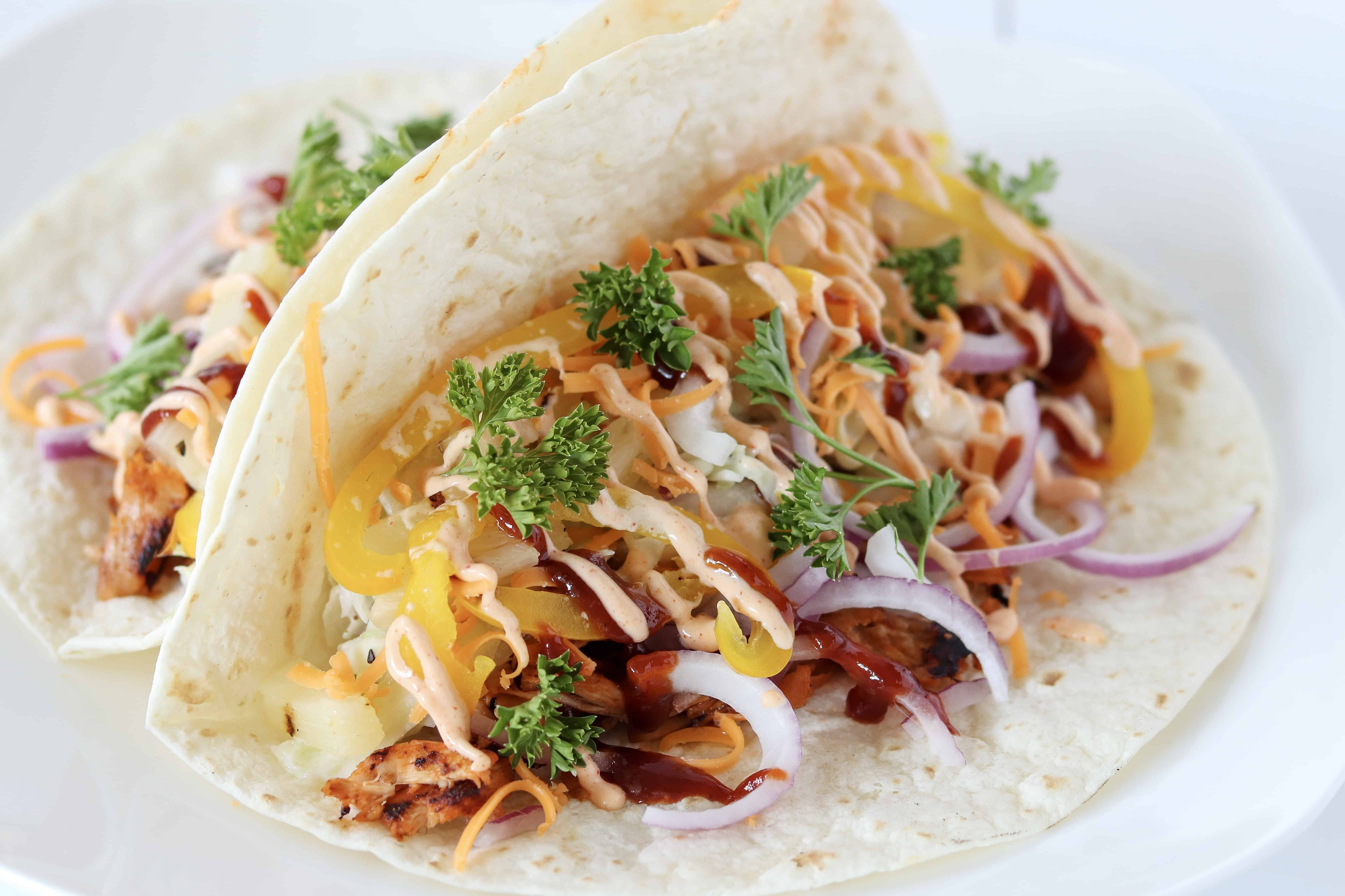 Chipotle Pineapple Chicken Tacos