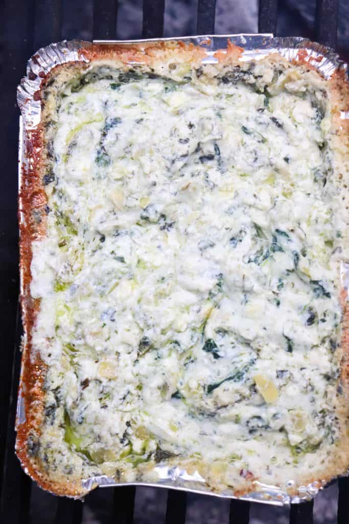 baked Campfire Spinach & Artichoke Dip