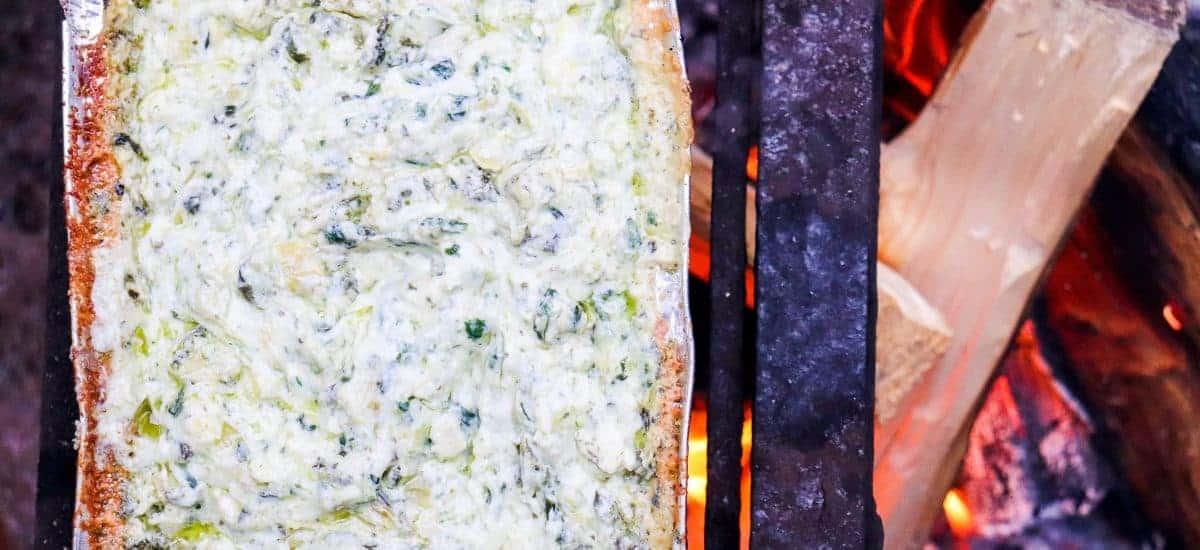 Campfire Spinach & Artichoke Dip