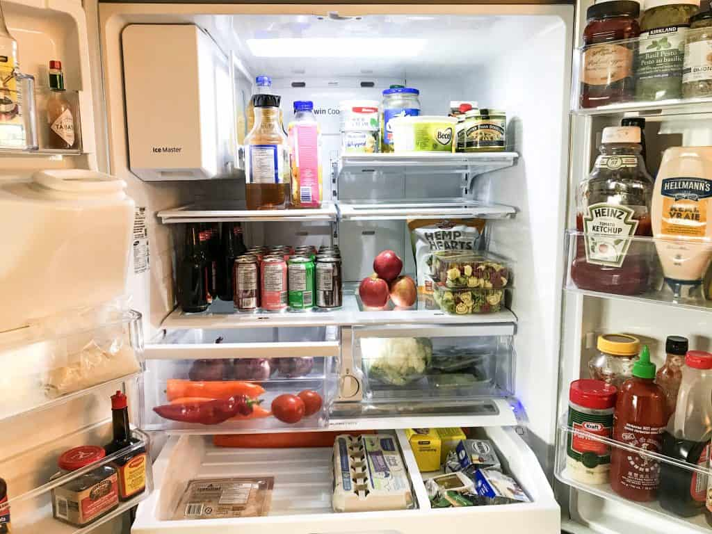 showing the inside of my fridge and how it is organized