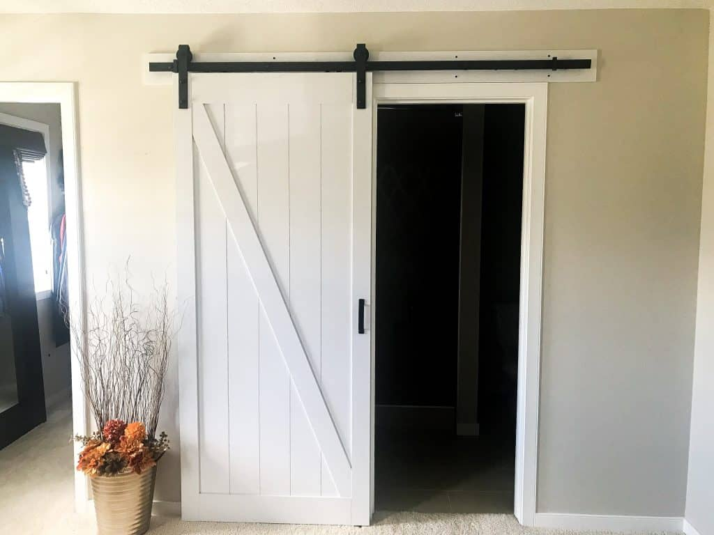 our new barn door on our ensuite