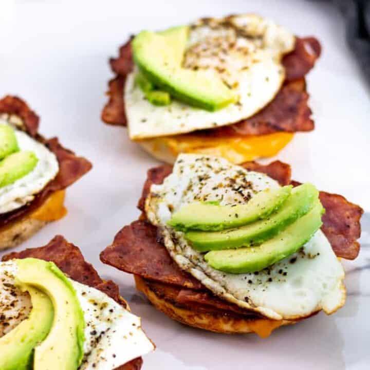 Avocado Breakfast Bagels