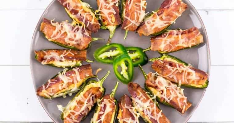 Smoked Cheddar and Bacon Jalapeño Poppers