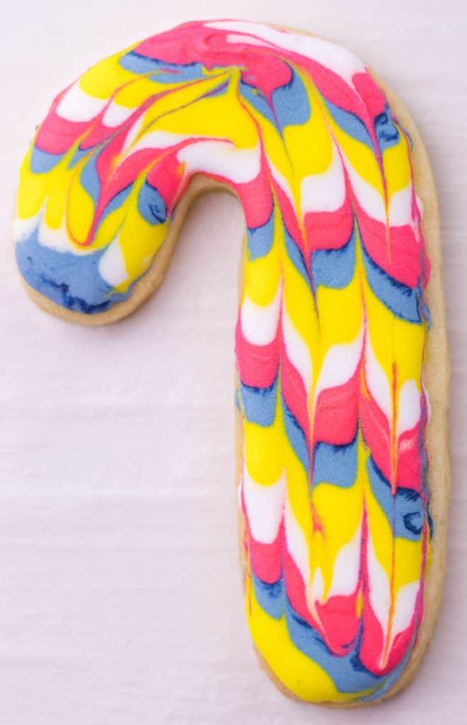 a candy cane sugar cookie