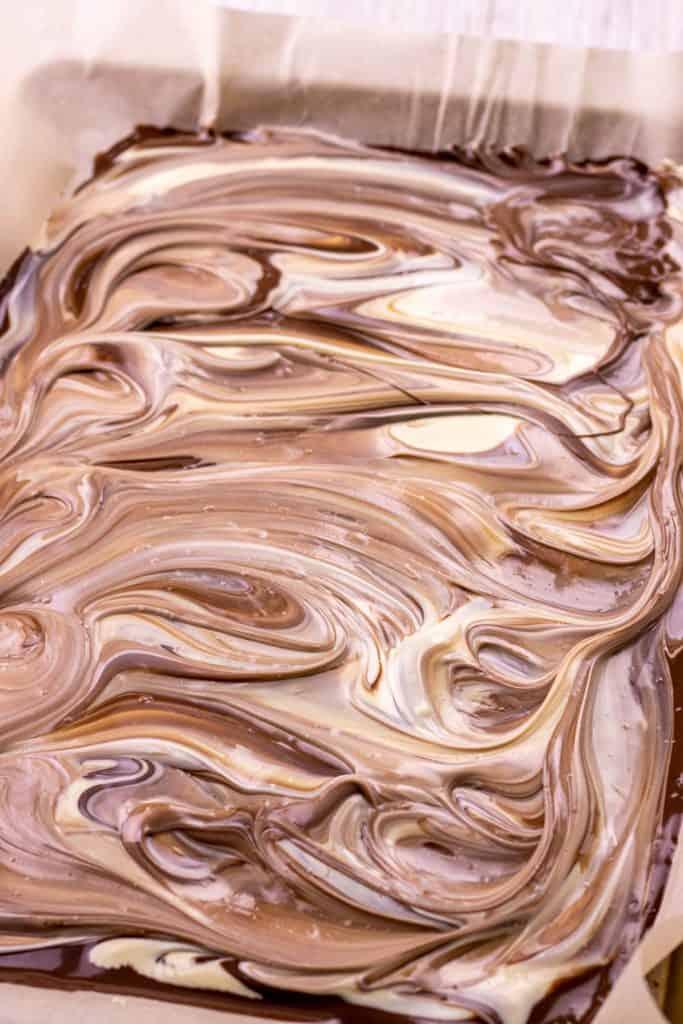 the chocolates swirled together