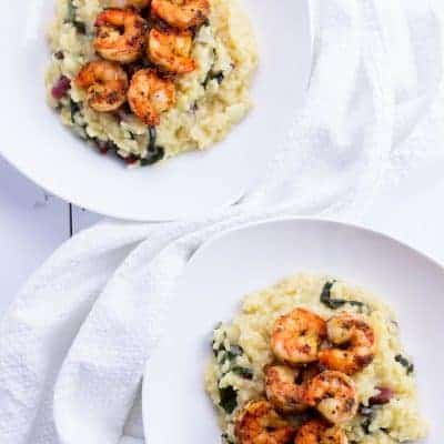 Shrimp and Swiss Chard Risotto
