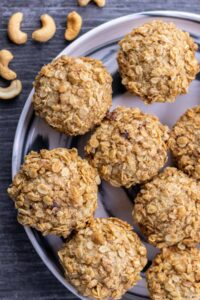 Banana Oat Blender Muffins on a serving plate