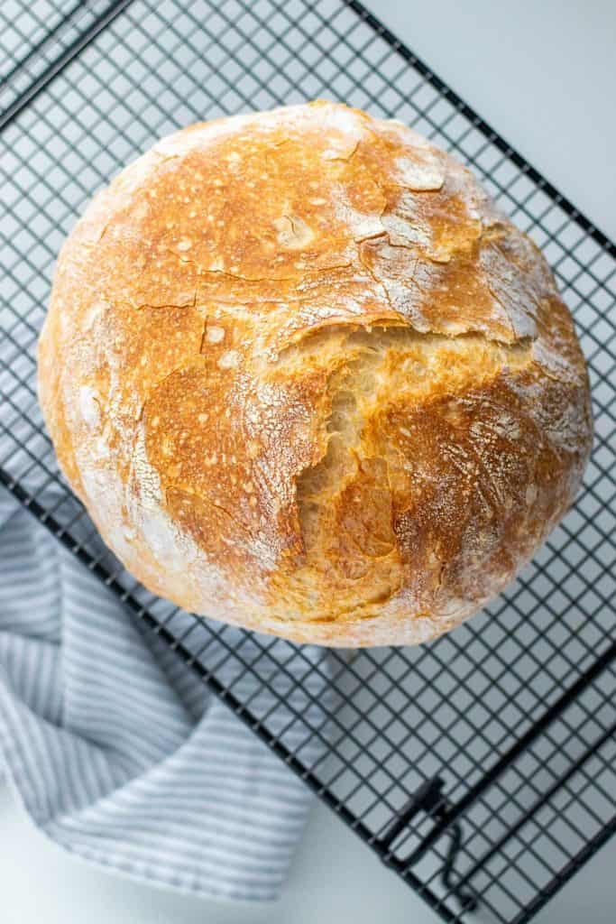 no knead bread after the cracking has taken place