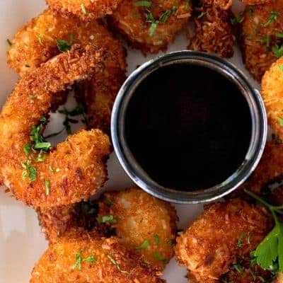 Coconut Shrimp with Honey Soy Dipping Sauce