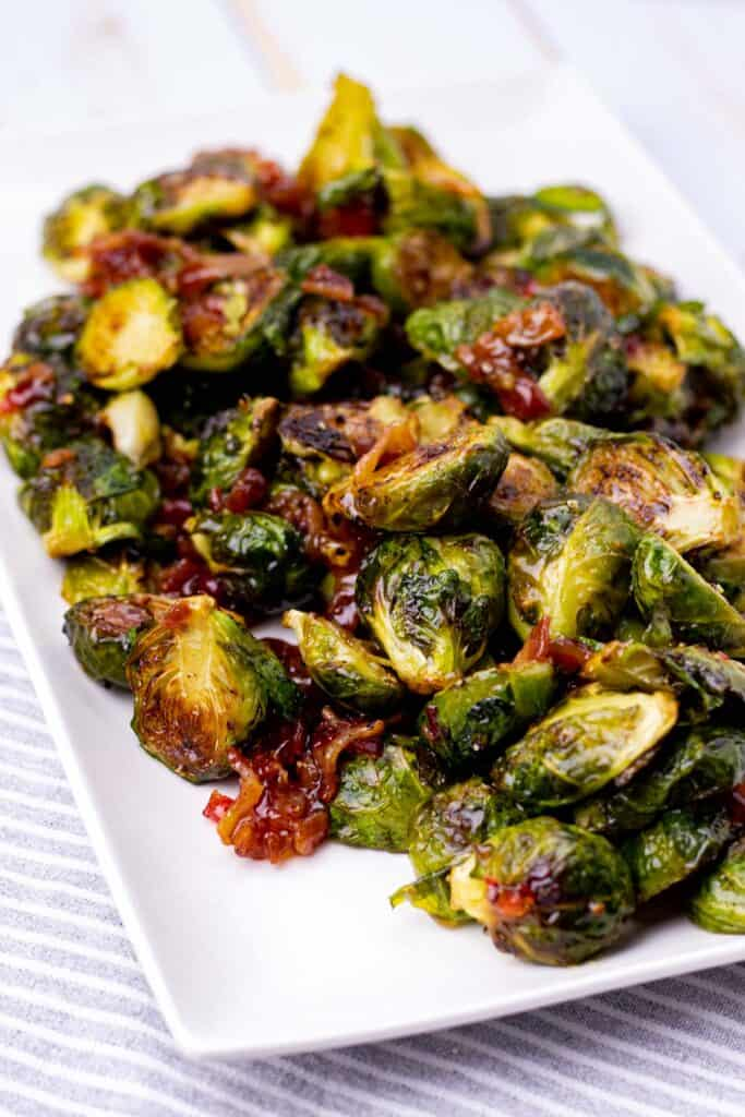 serving the brussel sprouts