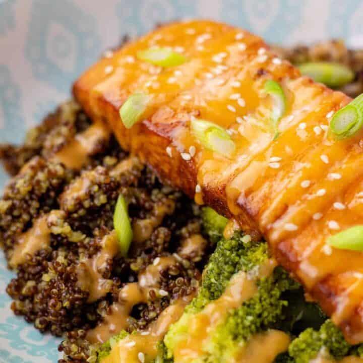 Pan Seared Salmon with Firecracker Aioli