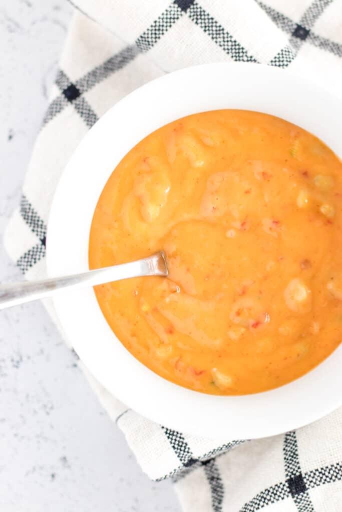 a prepared bowl of bang bang sauce