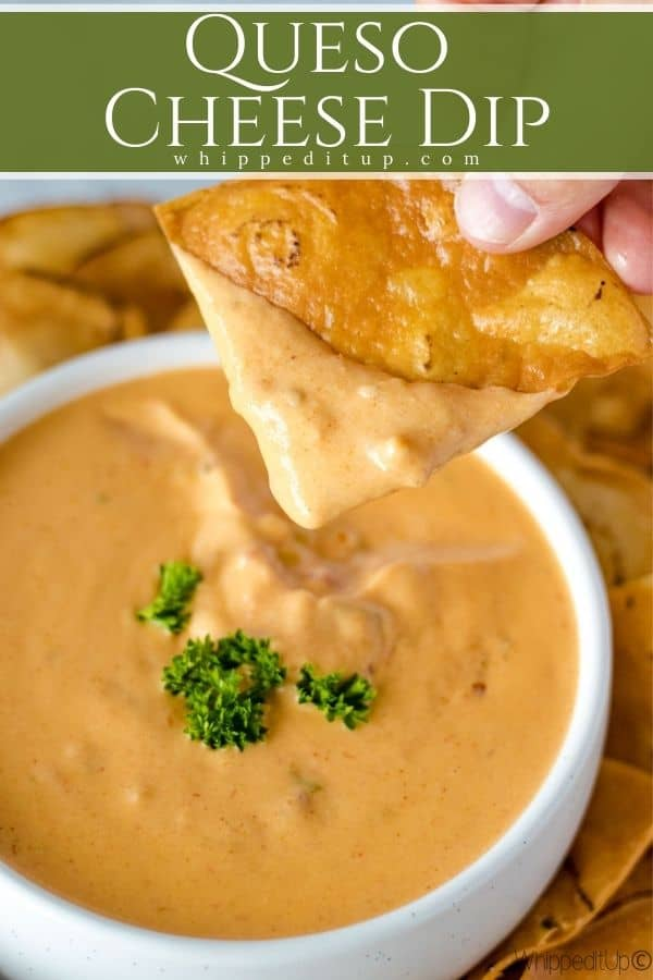 Queso Cheese Dip Pinterest Image