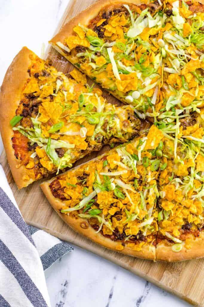 nacho pizza finished